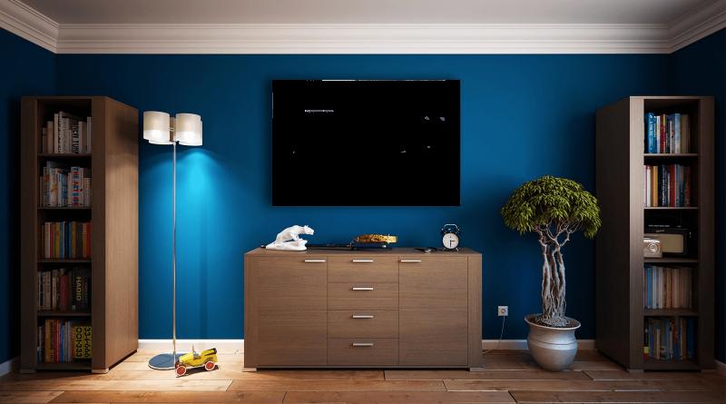 blauw toevoegen in de woonkamer